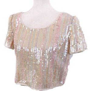 Reggio Sequined Shirt-Made in India-Silk-Medium